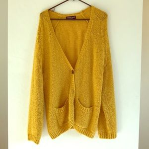 American Apparel mustard mohair sweater